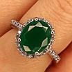 Срібне кільце із зеленим кварцом, фото 2