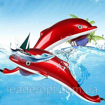 [ОПТ] Ручний масажер для тіла Dolphin маленький + 3 насадки
