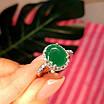 Серебряное кольцо с зеленым кварцем, фото 4