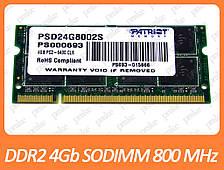 DDR2 4GB 800 MHz (PC2-6400) SODIMM Patriot PSD24G8002S