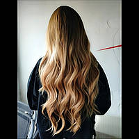 Парик русый омбре волнистые волосы