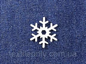 Декор Сніжинка колір білий клейова 34х40 мм