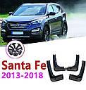 Брызговики MGC Hyundai Santa Fe (Хюндай Санта Фе) 2012-2018 г.в. комплект 4 шт 2WF46AC200, 868312W000, фото 4