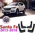 Брызговики MGC Hyundai Santa Fe (Хюндай Санта Фе) 2012-2018 г.в. комплект 4 шт 2WF46AC200, 868312W000, фото 5
