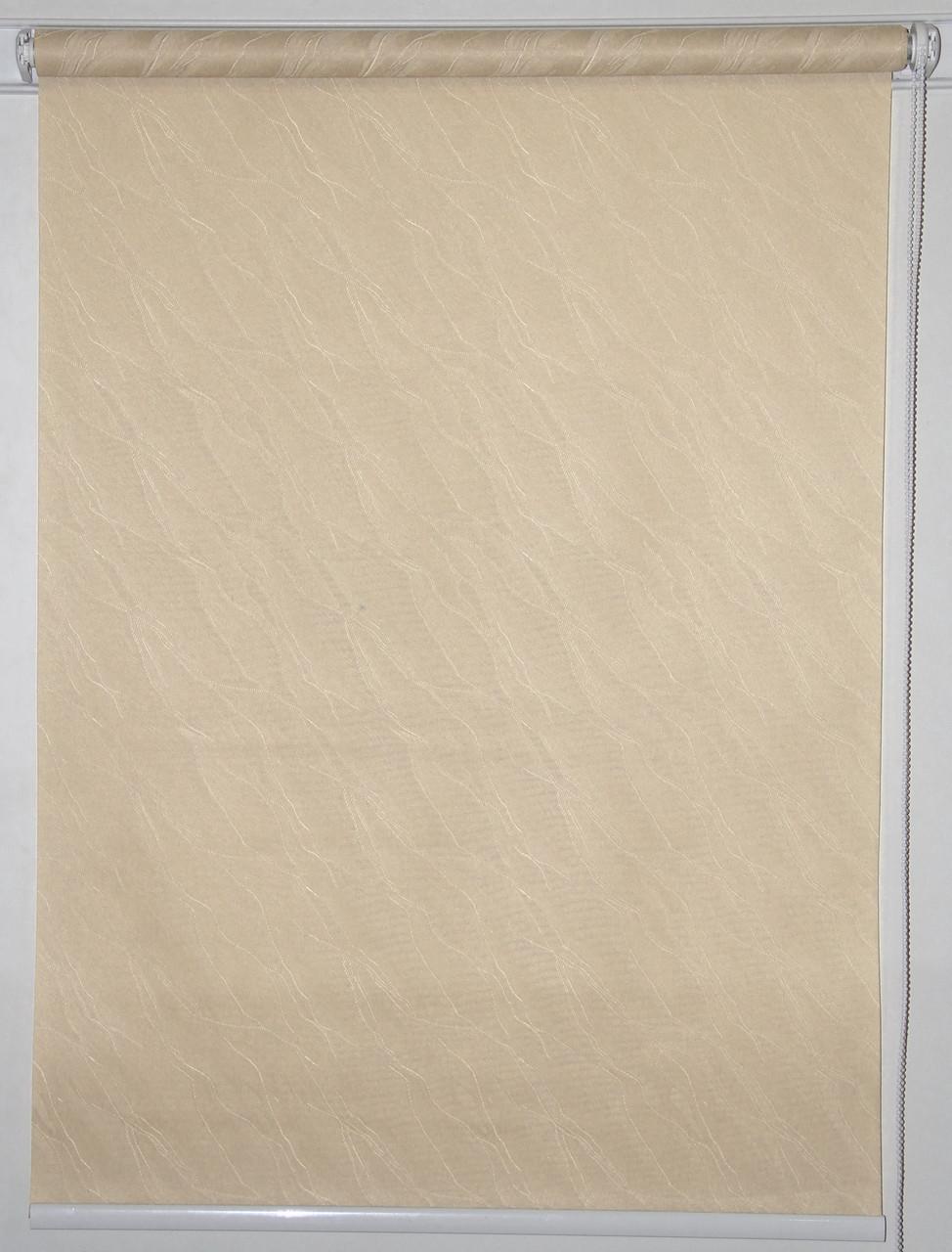Готовые рулонные шторы 1000*1500 Ткань Вода 1839 Какао