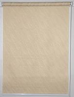 Готовые рулонные шторы 1000*1500 Ткань Вода 1839 Какао, фото 1