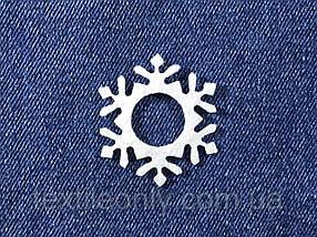 Декор Сніжинка колір білий клейова 39х45 мм