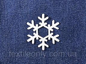 Декор Сніжинка колір білий клейова 53х60 мм