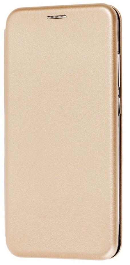 Чехол (книжка) премиум для Xiaomi Redmi Note 8 Proзолотая