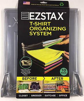 [ОПТ] Система зберігання одягу T-shirt organizing system EZSTAX, 10 шт
