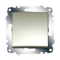 Выключатель одноклавишный ABB El-bi ZENA модуль титановый металлик, Турция