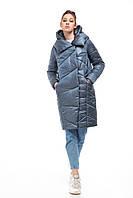 Стильный сатиновый модный бочонок-пуховик, для сильных морозов до -30! зимний пуховик в размерах 42-54