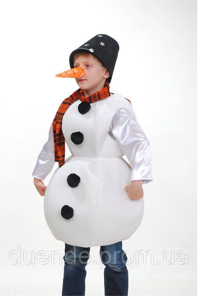 Новогодний Снеговик карнавальный костюм для мальчика \ Размер 116-140 / BL - ДНг18