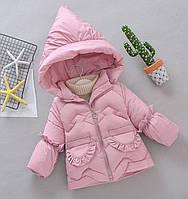 Зимняя куртка для девочки Оборки