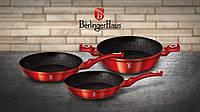 Набор сковородок Berlinger Haus Metallic Line BURGUNDY Edition BH 1290N (3 предмета)