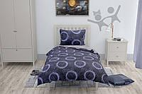 Подростковый комплект постельного белья на резинке HalfTones, полуторный, 160*220, ранфорс/постільна білизна