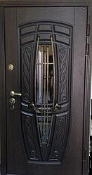 """Вхідні двері """"Портала"""" (Premium) ― Монако АМ18 Vinorit*2 (3-D, патина)"""