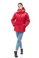 Зимний стильный короткий Молодежный дутый пуховик сатин размер 42-50