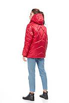 Зимний стильный короткий Молодежный дутый пуховик сатин размер 42-50, фото 2