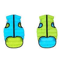 Курточка для собак Collar AiryVest двусторонняя, размер S 40, салатово-голубая (вест хайленд, джек-рассел, пудель, кокер спаниель)