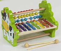 Деревянная игра Ксилофон С 39239  со счетами, в коробке