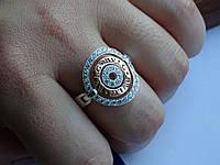 Хит! Дизайнерское кольцо с позолотой в стилистике  Bvlgary (булгари), фото 1