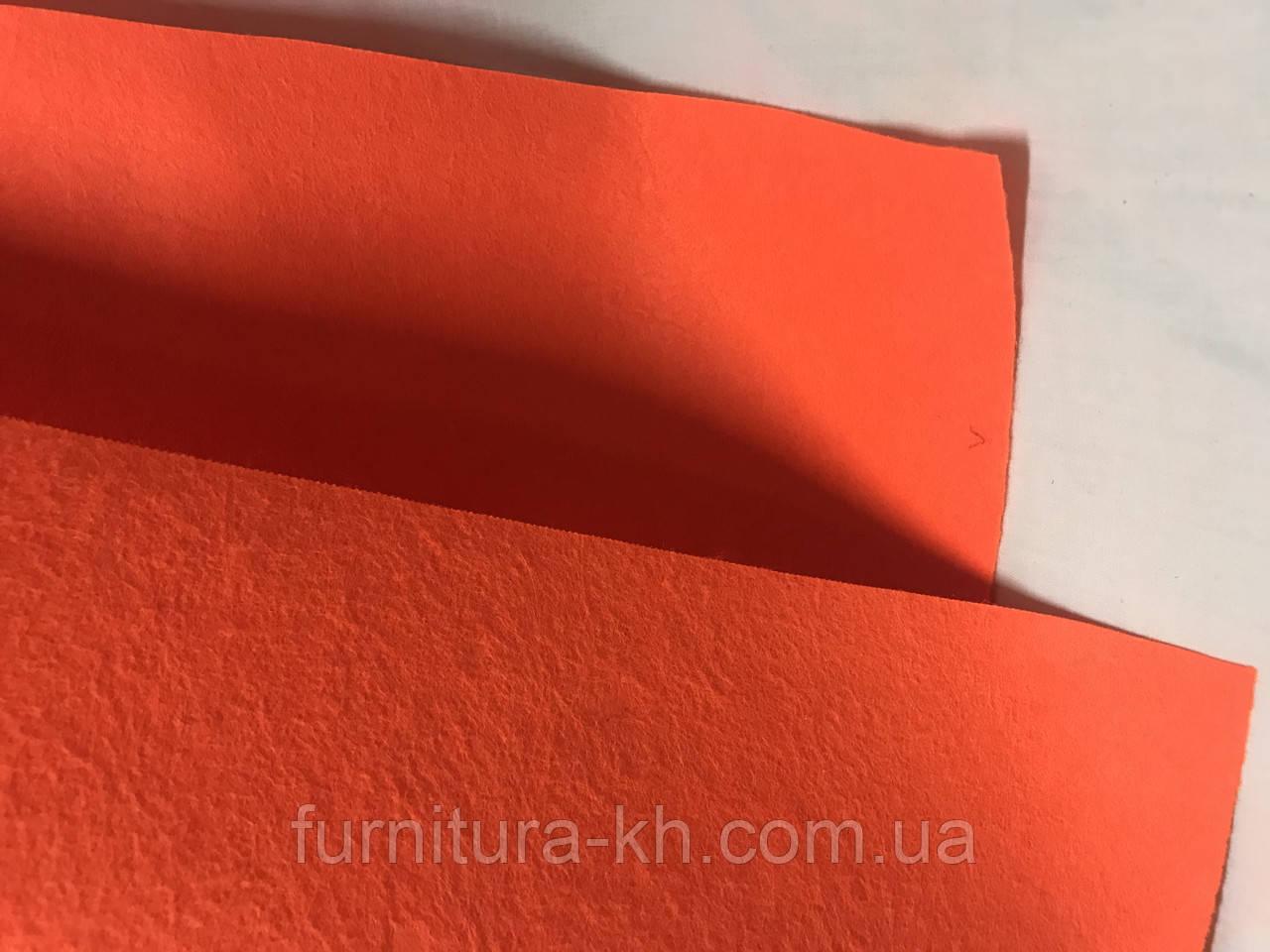 Фетр оранжевый размер 50 Х 40 см, толщина 2 мм