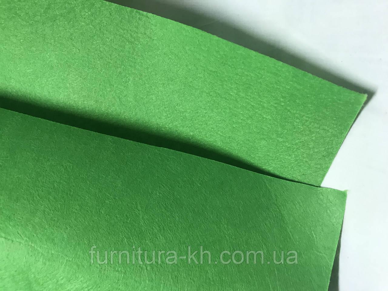 Фетр зеленый размер 50 Х 40 см, толщина 2 мм