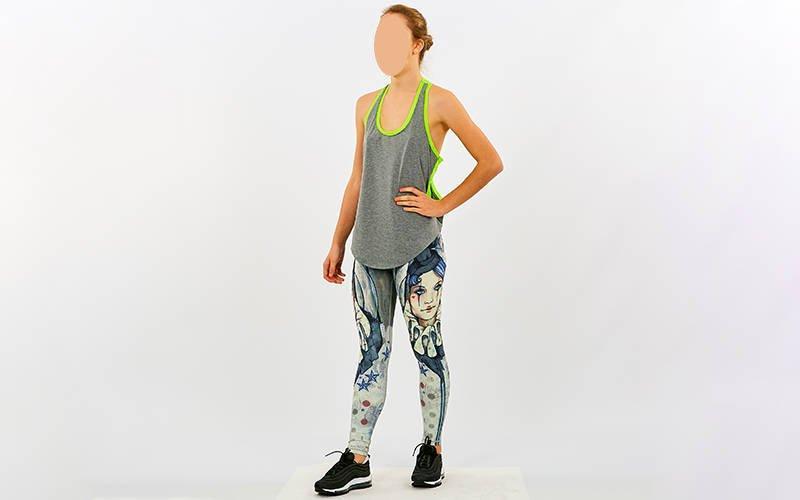 Майка для фитнеса и йоги полиэстер, лайкра Zelart Domino (CO-9006)