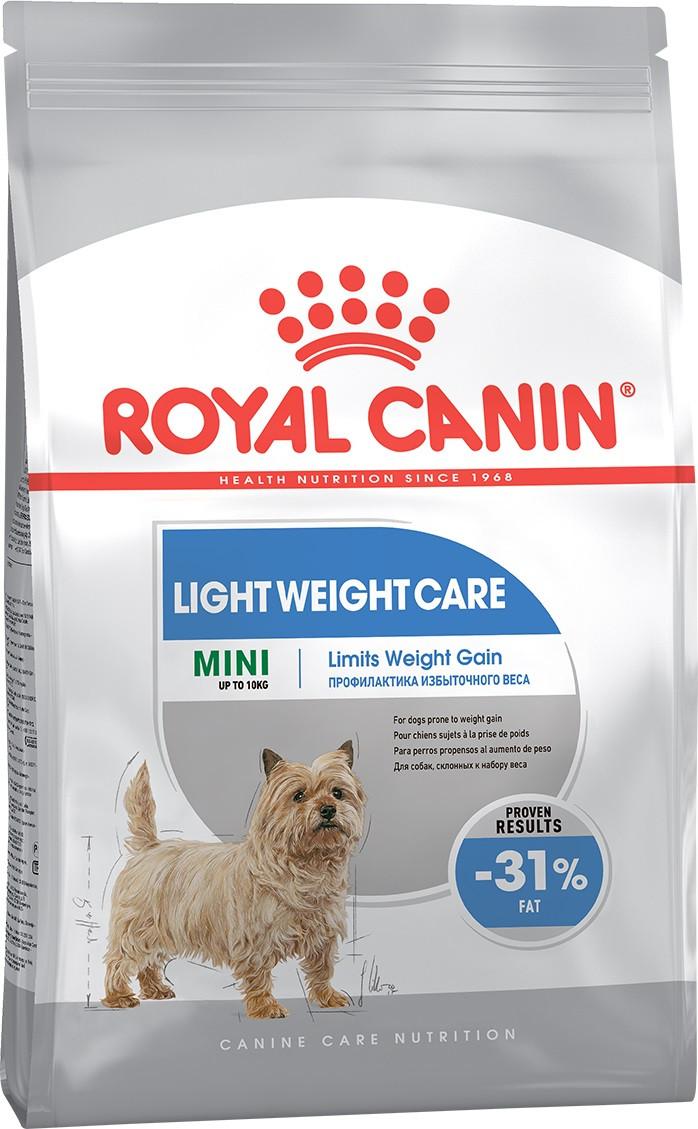 Сухой корм для собак малых пород, склонных к полноте Royal Canin Mini Light Weight Care 1 кг