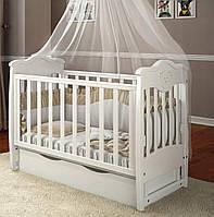 Дитяче ліжечко Angelo Lux-5 Біле, фото 1
