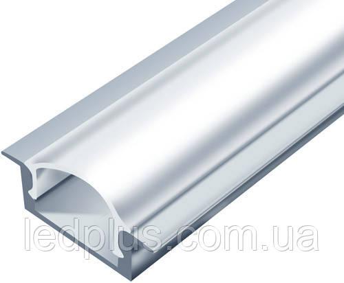 Алюминиевый профиль для светодиодной ленты ЛПВ7 + рассеиватель(прозрачный)