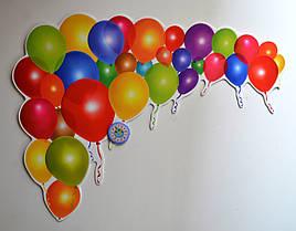 Шарики воздушные. Настенная декорация для детского сада.