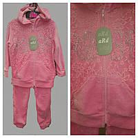 Спортивный велюровый костюмчик розовый