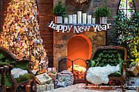 Новорічний декор. Букви с дерева. Слова с фанери.
