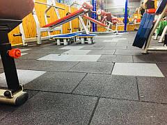 Резиновое спортивное (напольное) покрытие для детских площадок, спортзала 30мм