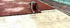 Резиновое спортивное (напольное) покрытие для детских площадок, спортзала 40мм OSPORT (П40)