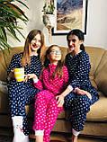 Детская флисовая пижама малиновая 134, фото 4