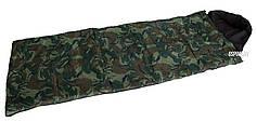 Спальный мешок (спальник) одеяло с капюшоном OSPORT Студент камуфляж (FI-0021)
