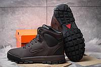 Мужские зимние ботинки на меху в стиле Nike LunRidge, коричневые 42 (27,5 см)