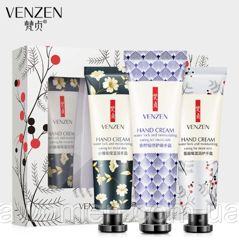 Набор омолаживающих кремов для рук Venzen 3 штуки
