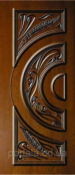 """Вхідні двері """"Портала"""" (серія Еліт) ― модель АМ 2 Patina"""