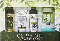 Набор SELESTAsenses Olive senses для тела (Шампунь, гель для душа, крем, мыло с оливковым маслом и перчатка)