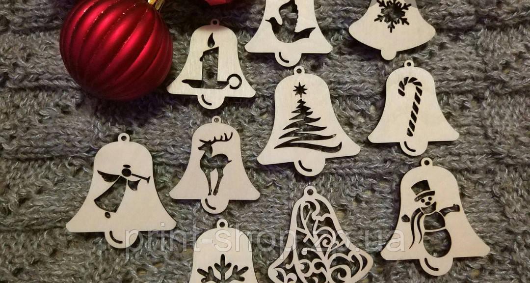 Новогодние игрушки с фанеры. Игрушки с символом года.