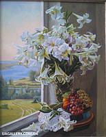 Картины «Натюрморт с белыми цветами»