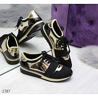Модные текные женские белые кроссовки для города Код: 3699664