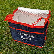 Термосумка (сумка-холодильник, термобокс) для еды и бутылочек с ручками большая 18 л Wanderlust (R28804)