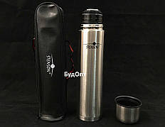 Термос (термочашка) металлический в чехле 0.75л Stenson (MT-0180)