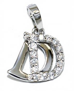 Кулон фирмы Xuping. Цвет: серебряный. Камни:белый циркон.Высота кулона: 1,8 см. Ширина:12 мм