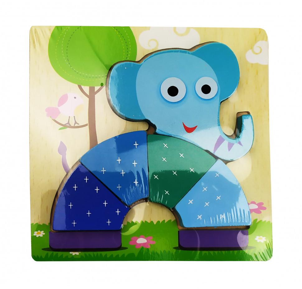 Деревянная игрушка Пазлы MD 0904 (Слон)
